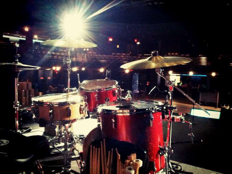Drumset on-stage at Austin City Limits Moody Theater